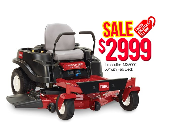 """Toro 74775 Time Cutter MX5000 50"""" with Fab Deck $2999"""
