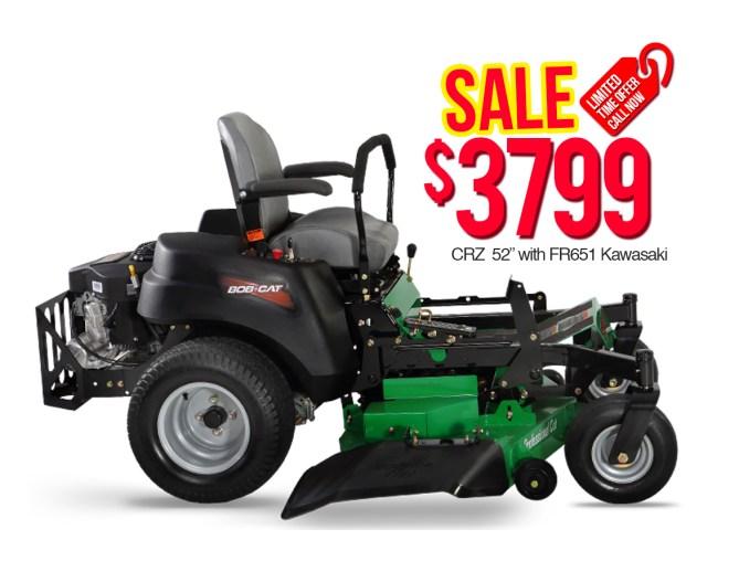 "Bob Cat 942605 CRZ 52"" with FR651 Kawasaki $3799"