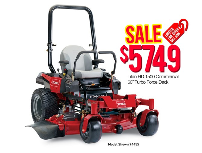 "Toro 74452 Titan HD 1500 Commercial 60"" Turbo Force Deck"