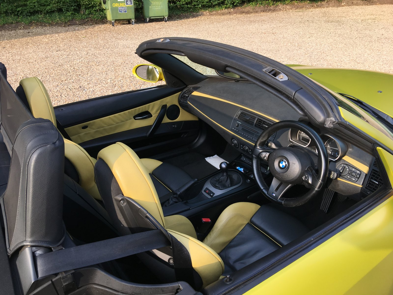 hight resolution of bmw z4 yellow black sport interior fitted 1