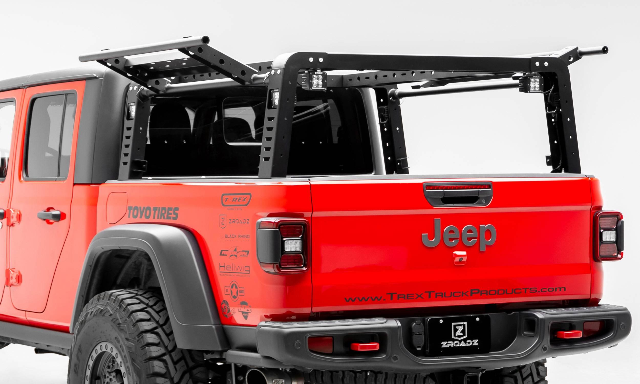 zroadz z834101 2019 2020 jeep gladiator access overland