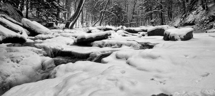 Frozen Creek at Roaring run