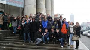 Licealiści na warszawskiej wycieczce edukacyjno - integracyjnej