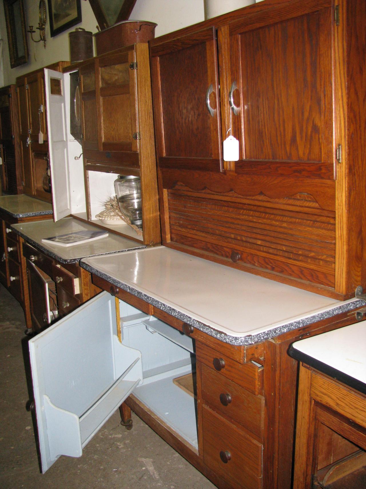 Z S Antiques Restorations Hoosier Baker Cabinets Including
