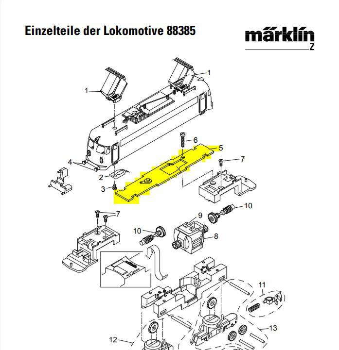 MARKLIN 175361 Locomotive Circuit Board: z.scale.hobo