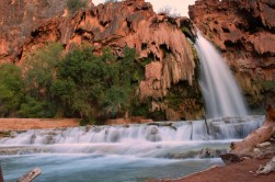 Travertine terraces below Havasu Falls