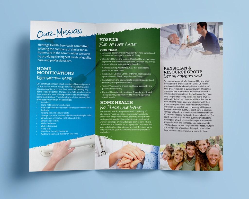 Heritage Health Services - Brochure Inside
