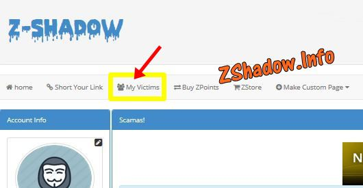 What is Z-Shadow Victims Page