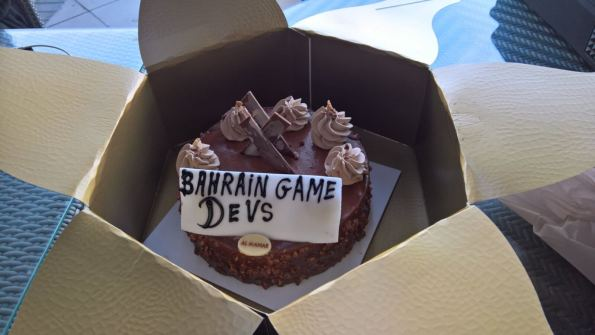 Bahrain Game Devs Birthday Cake