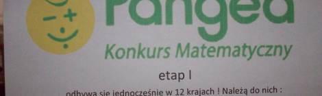 """Międzynarodowy konkurs matematyczny ,,PANGEA"""""""