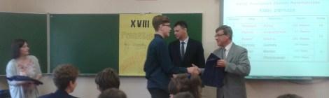 XXVIII Powiatowe Zawody Matematyczne-wyniki