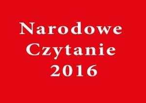 Narodowe Czytanie 2016 slajd 0