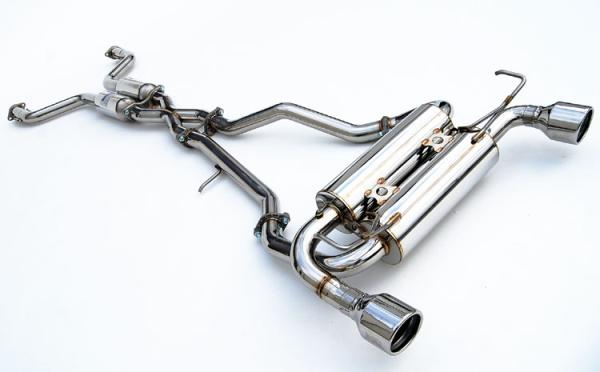 invidia 370z gemini rolled stainless tip cat back exhaust