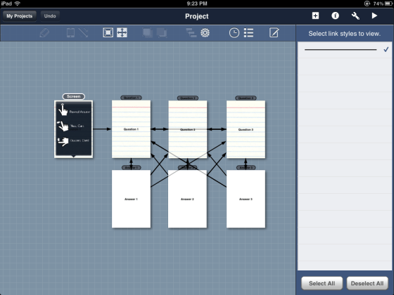 Zsprawls zapps creating a mock up of your app blueprint lite for the ipad is absolutely free and will allow you 2 mockups each with 8 screens this is quite enough to get the basic layout or menu malvernweather Gallery