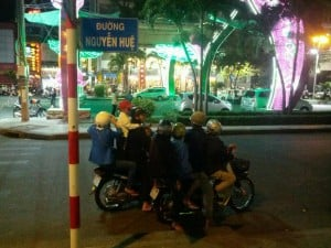 Motorcycle families in Ho Chi Minh City