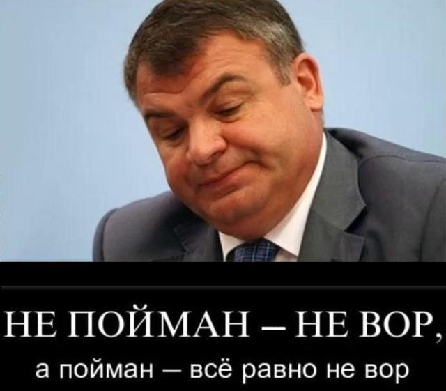 Вор Сердюков.