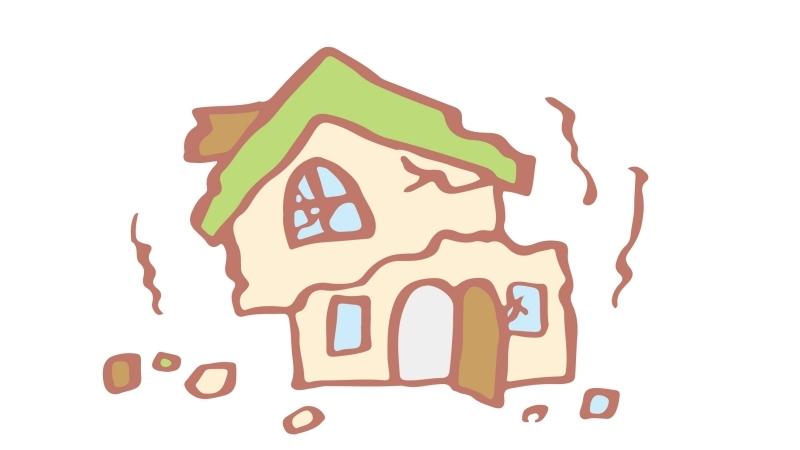 耐震工事をしていなかったため倒壊した住宅