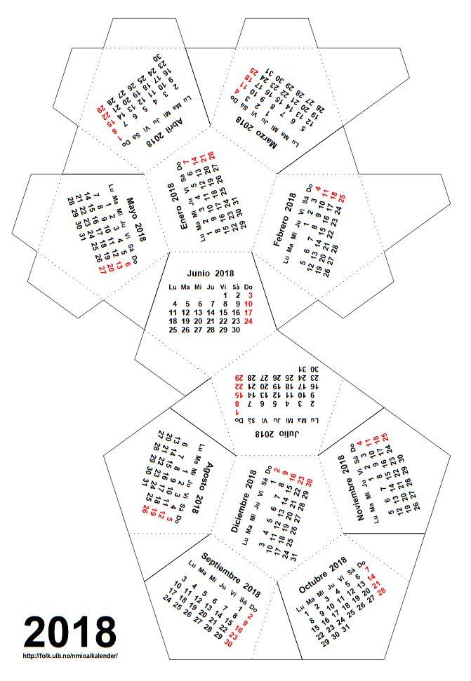 Calendario 2018 Para Imprimir Argentina Con Feriados