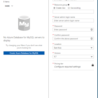 Azure MySQL as a Service Preview Setup