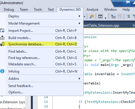 AX7 / D365 Extensions: Add a Field and a Method to a Table - ztirom