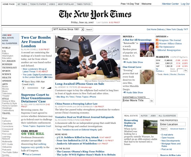 iPhone e o NYTimes