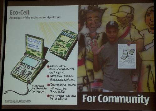 Eco-celular: idéia vinda da comunidade