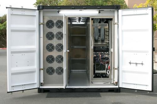 Sun Modular Datacenter S20 de portas abertas