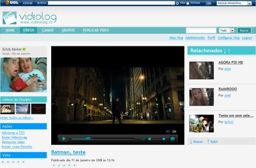 Vídeos em HD no Videolog: dá para habilitar ou desabilitar a alta definição