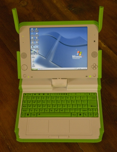 XO, da OLPC, rodando Windows