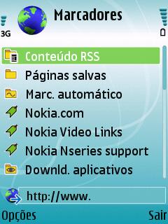 o sinal de 3G no browser do N95