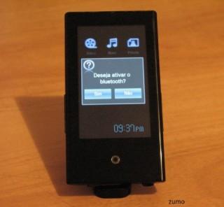 Samsung P2: ativação do Bluetooth