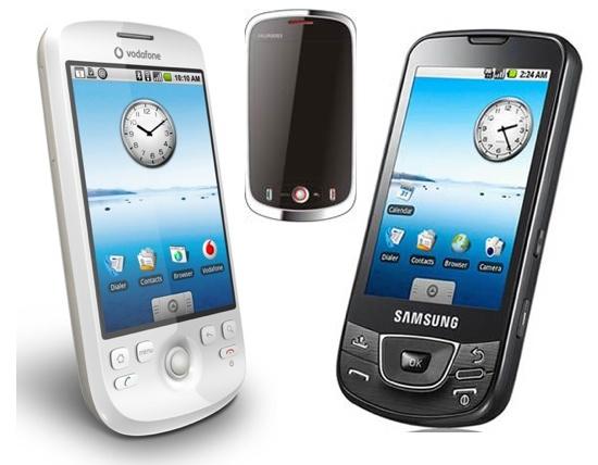 HTC MAGIC, HUAWEI U8220, SAMSUNG GALAXY