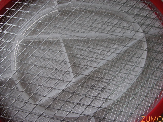 a rede da raquete