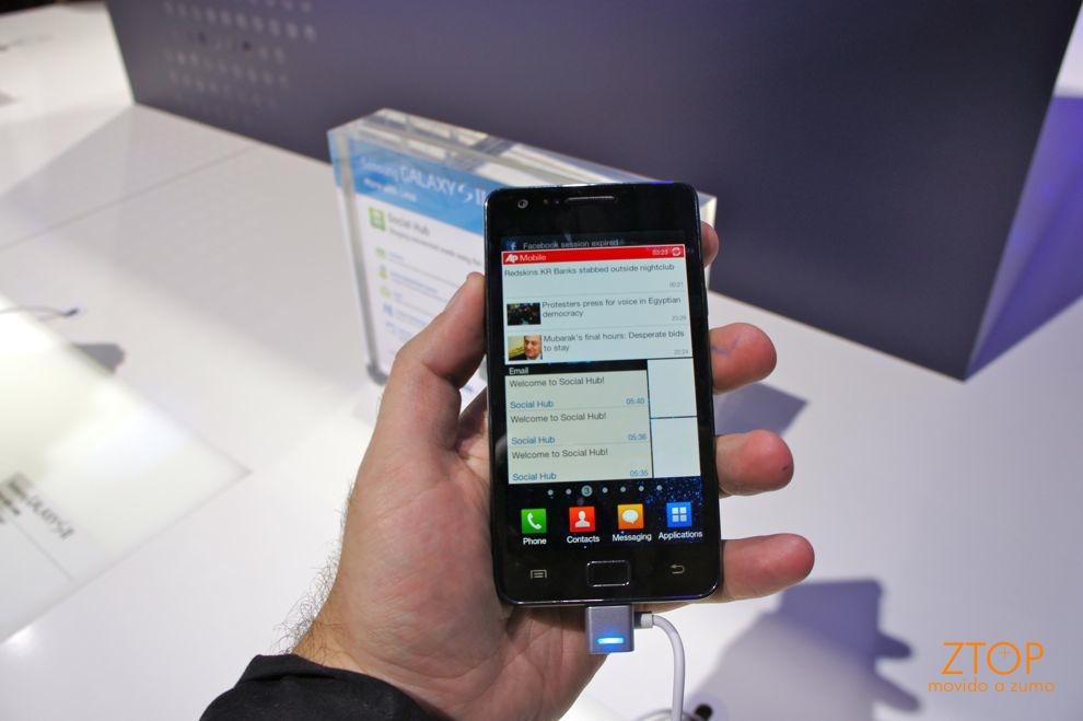 Nova interface TouchWiz para Android no Galaxy S II