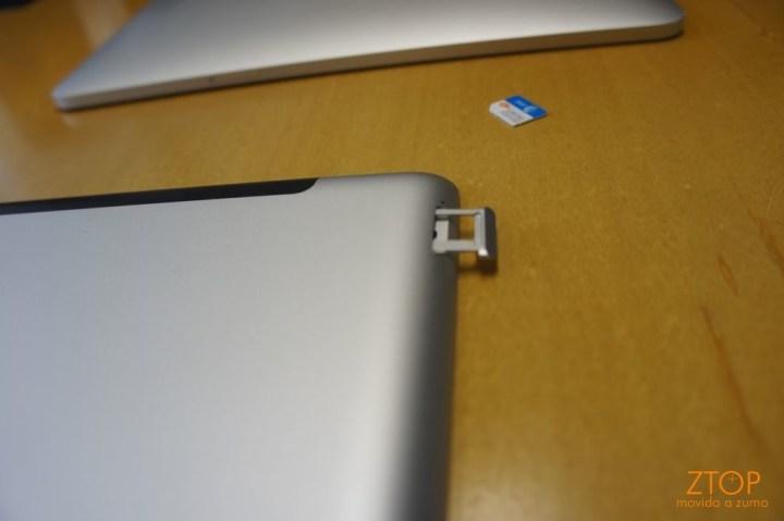 Slot para microSIM Card: em comparação ao iPad original, mudou de lugar