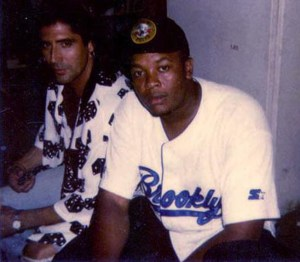 JJimmy Z and Dr Dre during Funky Flute filming