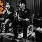 With Slidin' Slim - Dusty Roads Blues Festival, Tidaholm, Sweden - 2011- courtesy BME photo