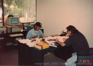 eazy in the office with Jimmy Z