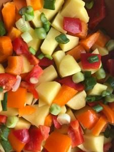 Kartoffeln und Paprika