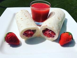 Süßer Erdbeeren Bananen Wrap Traum