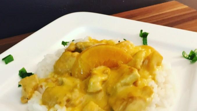 Pfirsich Hähnchenbrust Geschnetzeltes mit Thai Curry