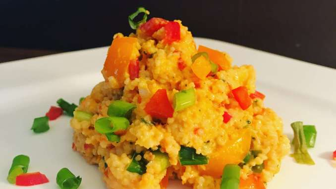 Pikanter Couscous Salat