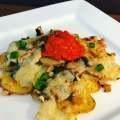 Überbackene Ofenkartoffeln mit Champignons und Käse
