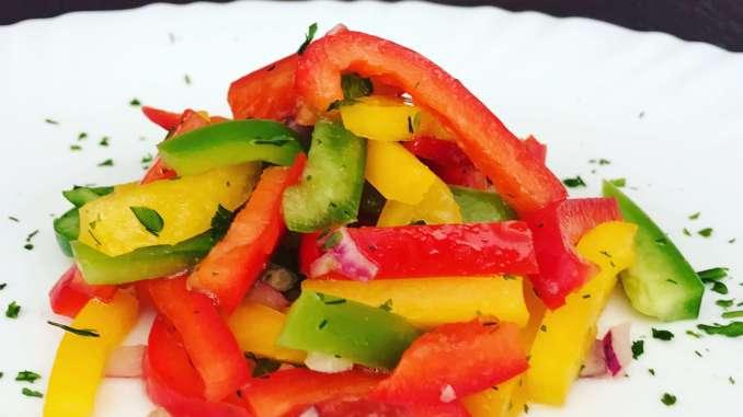 Schneller Paprika Salat