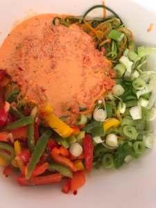 Zutaten Zoodles Salat