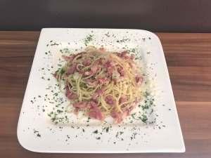 Bacon Knoblauch Spaghetti