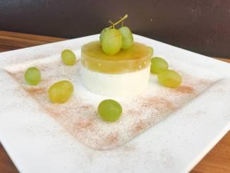 Marsala Weintrauben auf Quark Creme