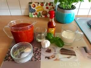 Zubereitung Schnelle Tomatensuppe