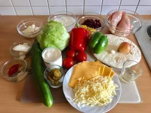 Chicken Kebab Burrito die Zutaten