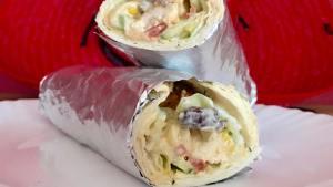 Der Chicken Kebab Burrito mit Käse